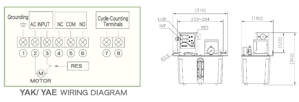 bơm dầu YAK-4L diagram